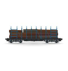 Cargo platform for timber transportation vector