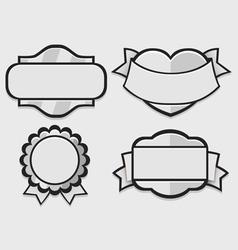 Set of silver retro badges vector image