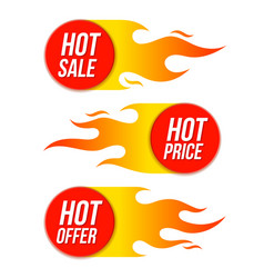Hot sale price offer labels templates stickers vector