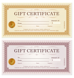 Certificate gift coupon template vector