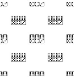 domino icon in black style isolated on white vector image