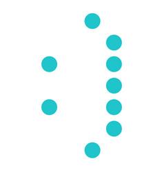 digital smiling face display board round dot vector image
