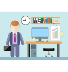 Businessman standing in office vector