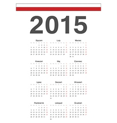 Simple polish 2015 year calendar vector