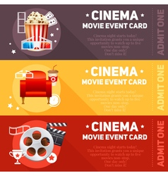 Realistic cinema movie poster vector