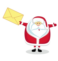 santa with mail vector image