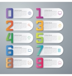 Infographics ten options vector