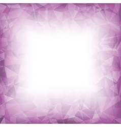 Pink crystal triangle pattern vector