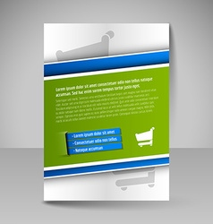 Flyer magazine cover brochure template design for vector