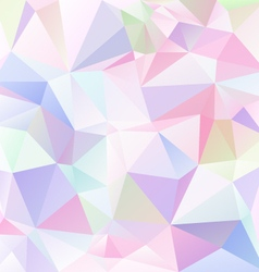 Light pastel colored abstract polygon triangular vector