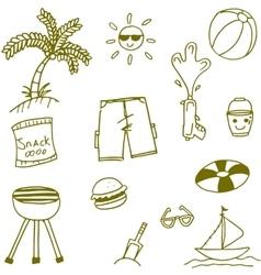 Doodle of seaside element vector