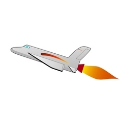 A cartoon space shuttle vector