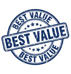 Best value blue grunge round vintage rubber stamp vector