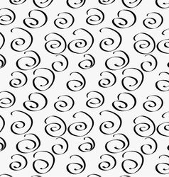Black marker drawn simple swirls vector