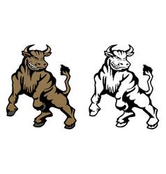 Bull cartoon mascot vector