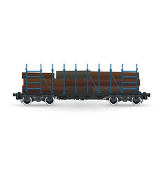 Cargo platform for timber transportation vector