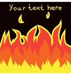 Cartoon fire flame flat icon vector image vector image