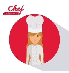 chef profession design vector image
