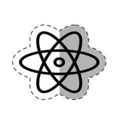 chemical atom school thin line vector image