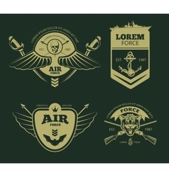 Color military patches vector
