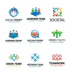 Crowds Team Business Design vector image