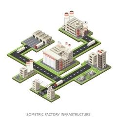 Factory infrastructure isometric vector
