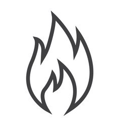 Flammable symbol line icon logistic vector