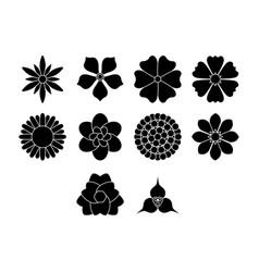Flower icon set vector