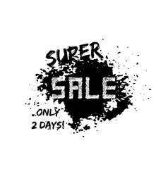Grunge sale poster with black splash vector