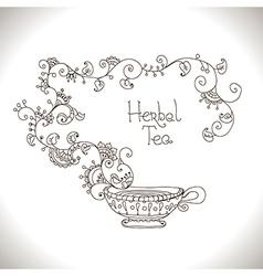 Herbal tea vector