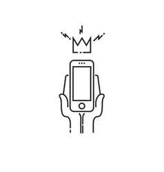 King smartphone icon vector