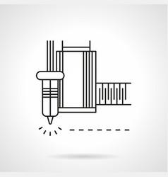 Laser machine flat line icon vector