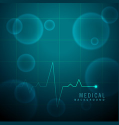Life line heartbeat medical background vector
