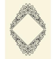 Line vintage frame vector