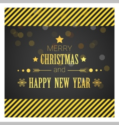 Merry Christmas and Happy New Year greeting card 4 vector image vector image