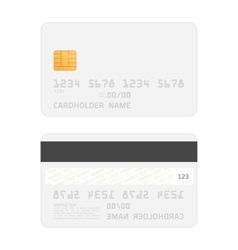 Realistic credit cards mockup vector image