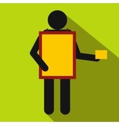 Sandwich board man icon flat style vector image