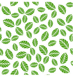 seamless pattern with greenery leaves vector image vector image