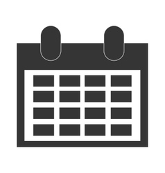 simple grey calendar vector image vector image