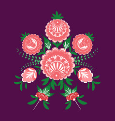 slavic folk traditional vegetable pattern vector image