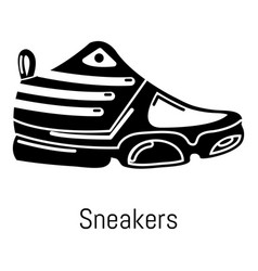sneakers icon simple black style vector image vector image