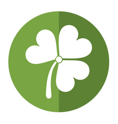 st patricks day clover lucky icon shadow vector image