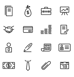 thin line icons - business vector image vector image