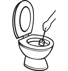 Toilet cleaning icon vector