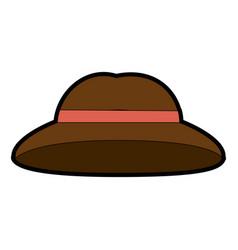 Vintage hat symbol vector
