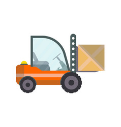 warehouse forklift truck isolated icon vector image vector image