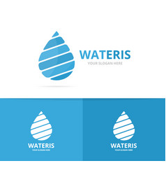 water drop logo combination oil and vector image vector image
