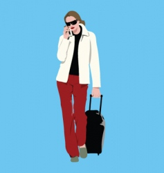 with bag vector image