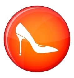 Women shoe with high heels icon flat style vector