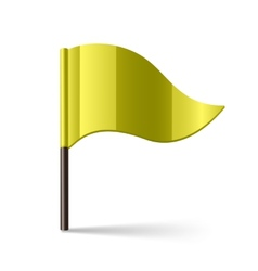 Yellow flag vector
